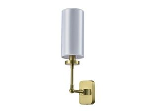 NEWPORT 7260 7261/A , Бра, Matt brass White shade L11*H43*Sp18,8 cm E14 1*40W