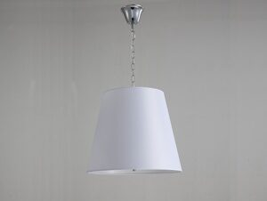 NEWPORT 7500 7506/S , Подвесной светильник, Chrome Shade white D45*H38/188 cm E14 6*60W